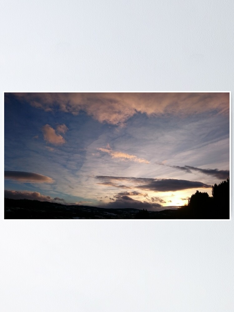 Alternate view of Evening Sky II Poster