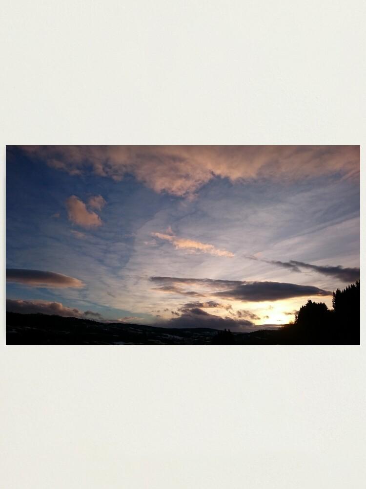 Alternate view of Evening Sky II Photographic Print