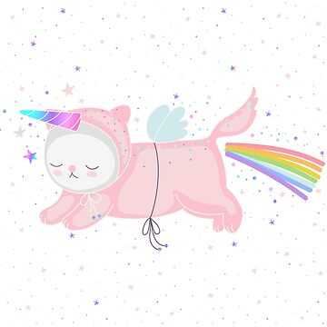 Unicorn Cat in the Sky by marinademidova