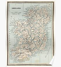 Map Of Ireland Poster.Historical Map Of Ireland Posters Redbubble