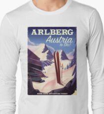 Arlberg Austria ski travel poster Long Sleeve T-Shirt