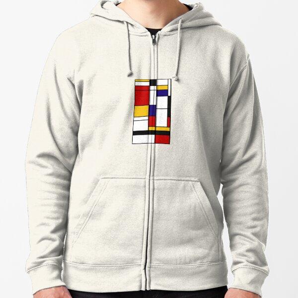 Mondrian 1 Zipped Hoodie