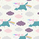 «Patrón de gatos del unicornio» de Marina Demidova