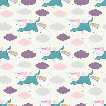 Unicorn Cats Pattern by marinademidova