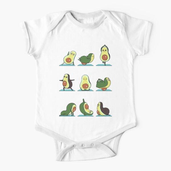 Avocado Yoga Short Sleeve Baby One-Piece