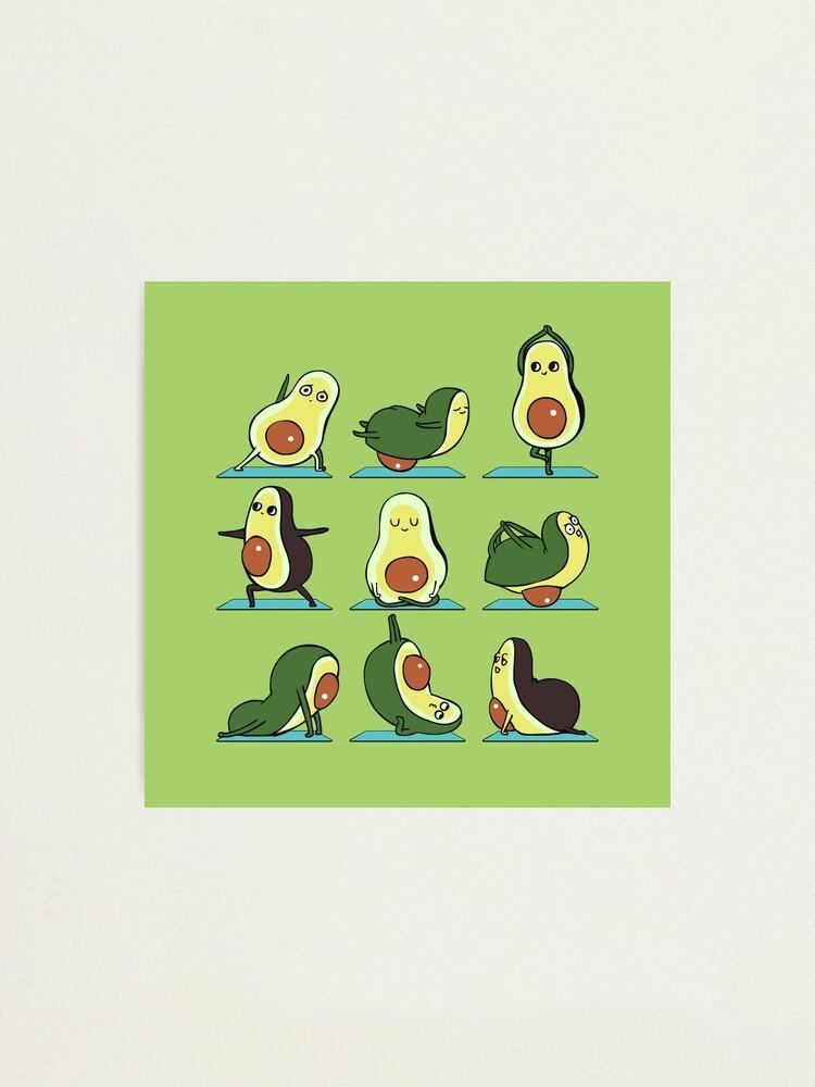 Alternate view of Avocado Yoga Photographic Print