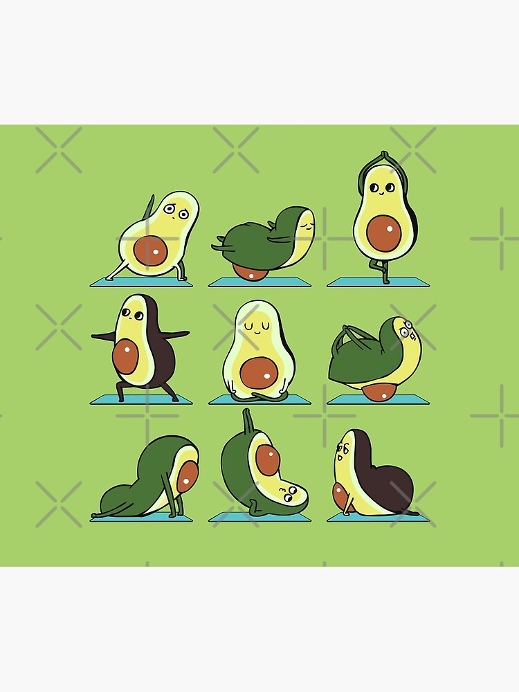 Avocado Yoga by Huebucket