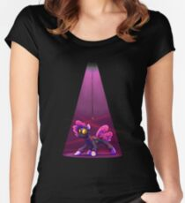 Pink Spy (Black) Women's Fitted Scoop T-Shirt
