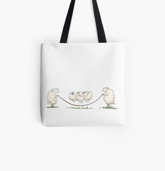 three little sisters having fun All Over Print Tote Bag