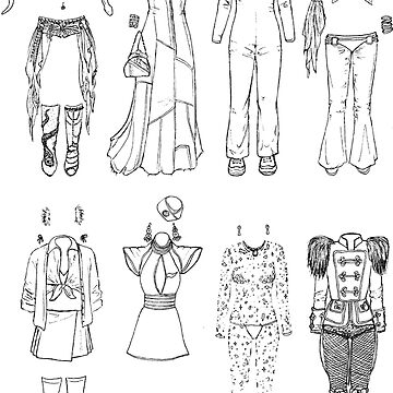 BRITNEY iconic outfits and costumes by flatlaydesign