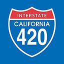 California 4 Day Us Interstate Highway Sign Poster By Sumwoman Redbubble