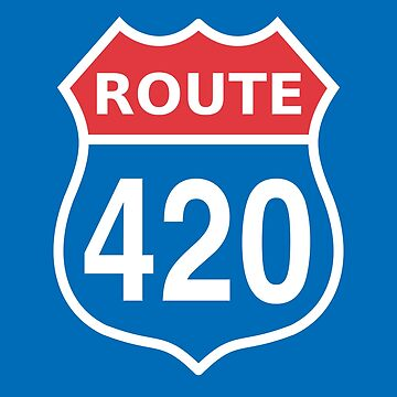 Route 420 Red Blue White US highway sign by sumwoman