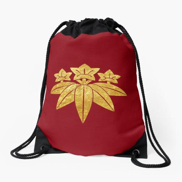 Kamakura Minamoto Mon Japanese clan in faux gold Drawstring Bag