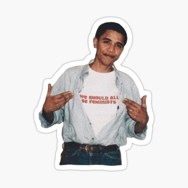 Young Obama - Feminist Sticker