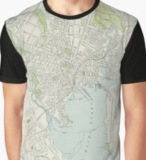 Vintage Map of New Haven Connecticut (1901) Graphic T-Shirt