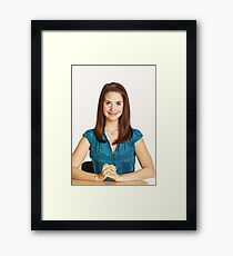 Alison Brie - Celebrity Art Framed Print