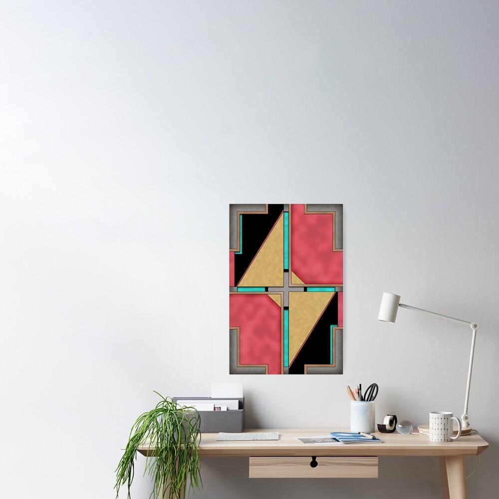 Quad - Geometric Abstract Design Poster