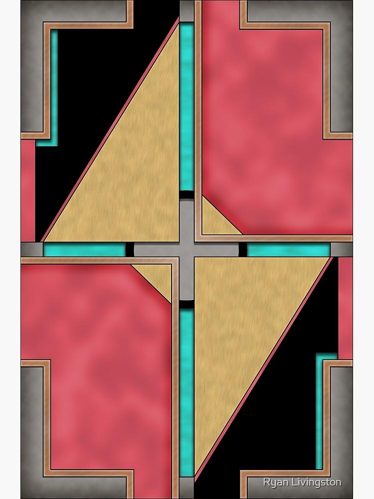 Quad - Geometric Abstract Design by RMLstudios