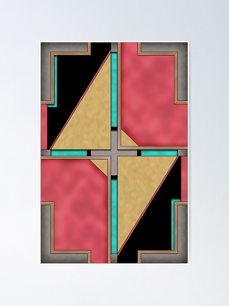 Alternate view of Quad - Geometric Abstract Design Poster