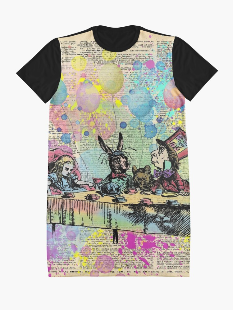 Alternate view of Tea Party Celebration - Alice In Wonderland Graphic T-Shirt Dress