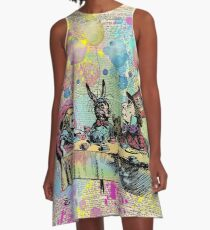 Tea Party Celebration - Alice In Wonderland A-Line Dress