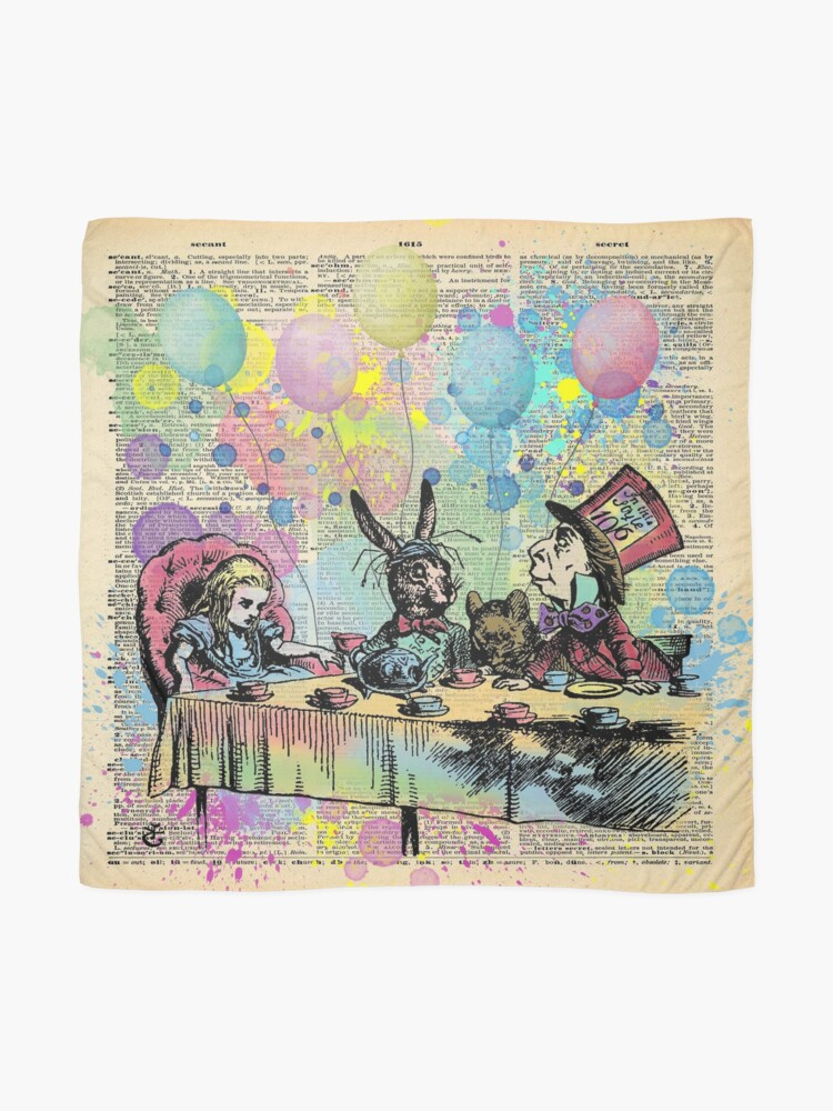 Alternate view of Tea Party Celebration - Alice In Wonderland Scarf