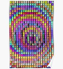Rainbow Pixels Poster