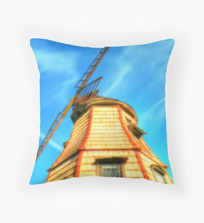 Windmill in the Sun Throw Pillow