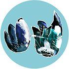 Two Blue Folwers by Istvan Ocztos