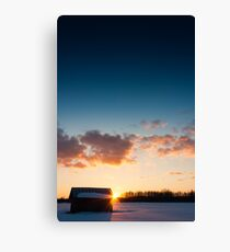 Gradient of Coldness Canvas Print