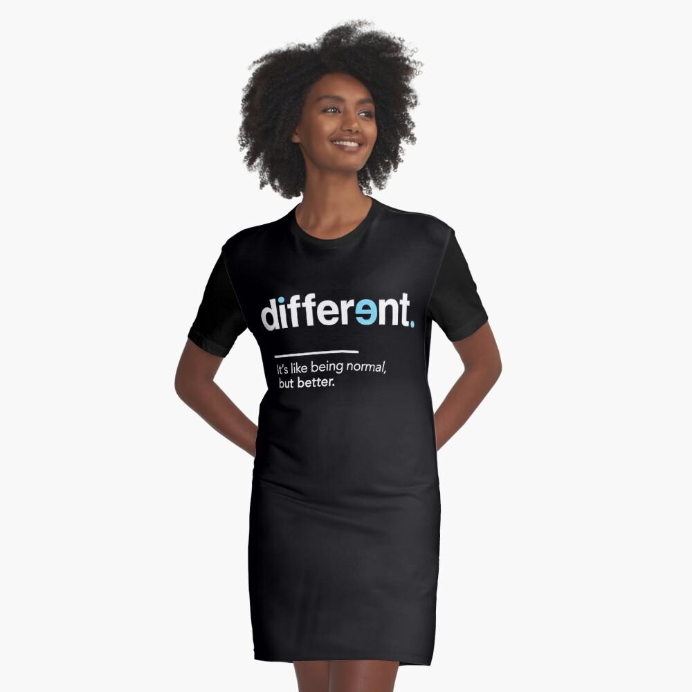 Seien Sie unterschiedliches Hemd für Autismus-Bewusstseins-Monat T-Shirt Kleid