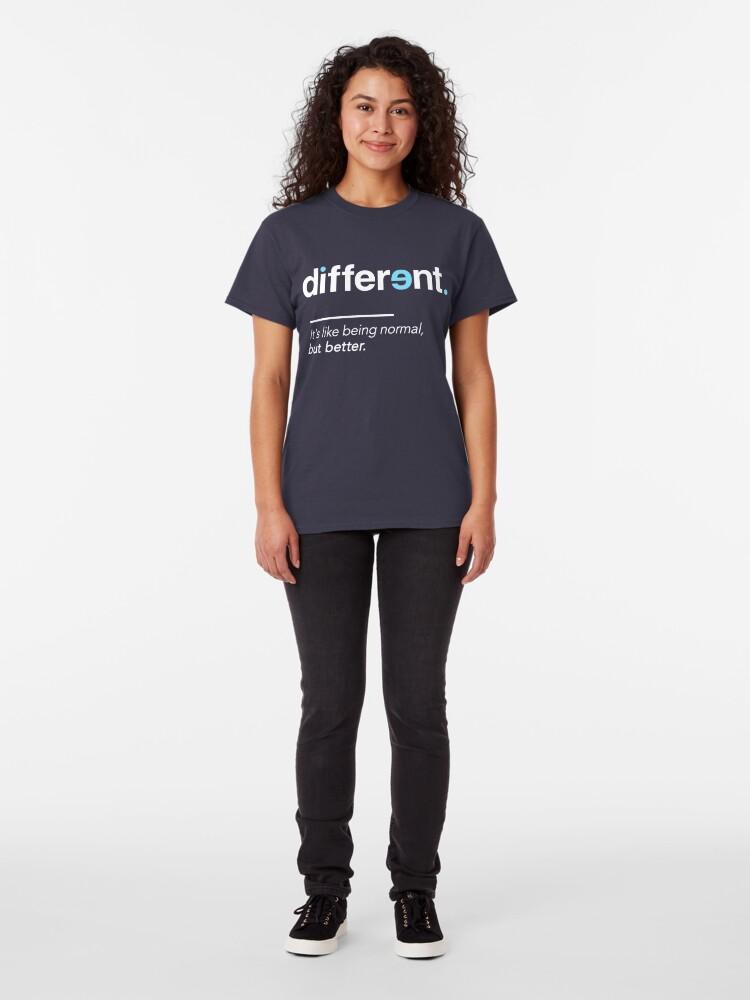 Alternative Ansicht von Seien Sie unterschiedliches Hemd für Autismus-Bewusstseins-Monat Classic T-Shirt