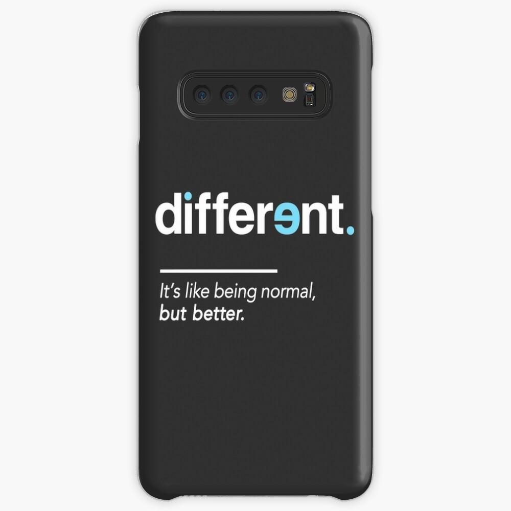 Seien Sie unterschiedliches Hemd für Autismus-Bewusstseins-Monat Hülle & Klebefolie für Samsung Galaxy