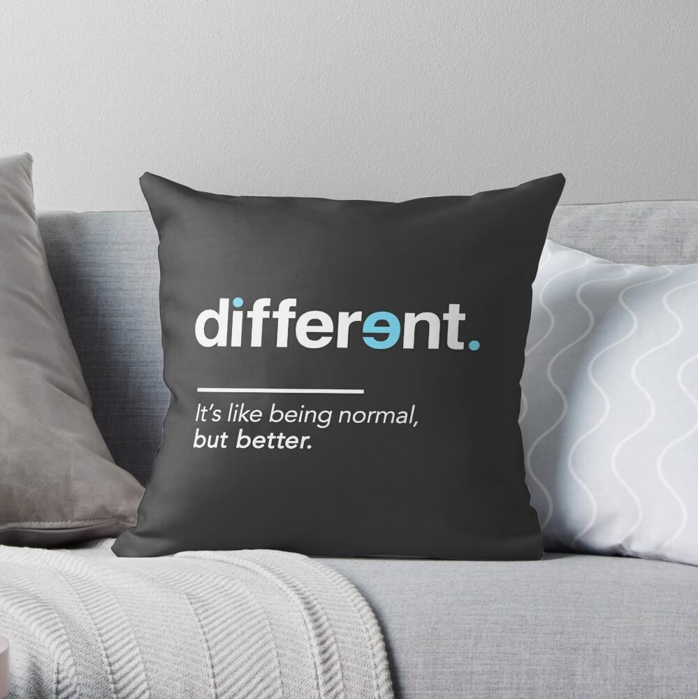 Seien Sie unterschiedliches Hemd für Autismus-Bewusstseins-Monat Dekokissen
