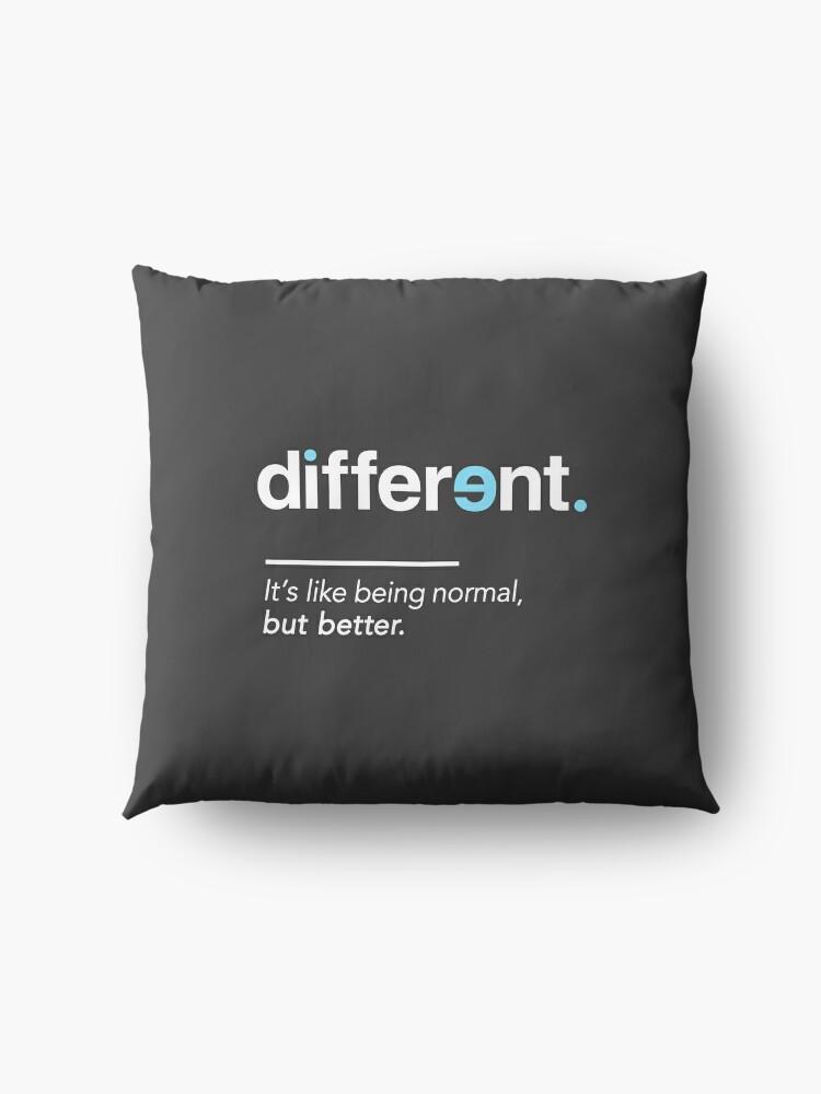 Alternative Ansicht von Seien Sie unterschiedliches Hemd für Autismus-Bewusstseins-Monat Bodenkissen