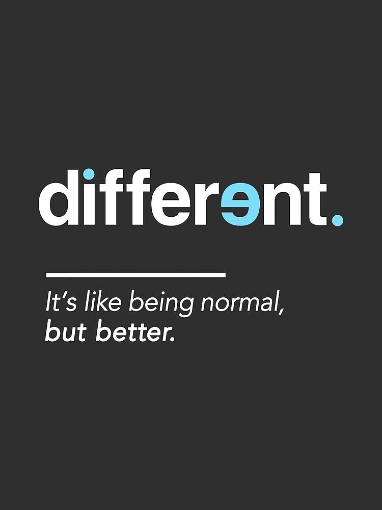 Seien Sie unterschiedliches Hemd für Autismus-Bewusstseins-Monat von BootsBoots