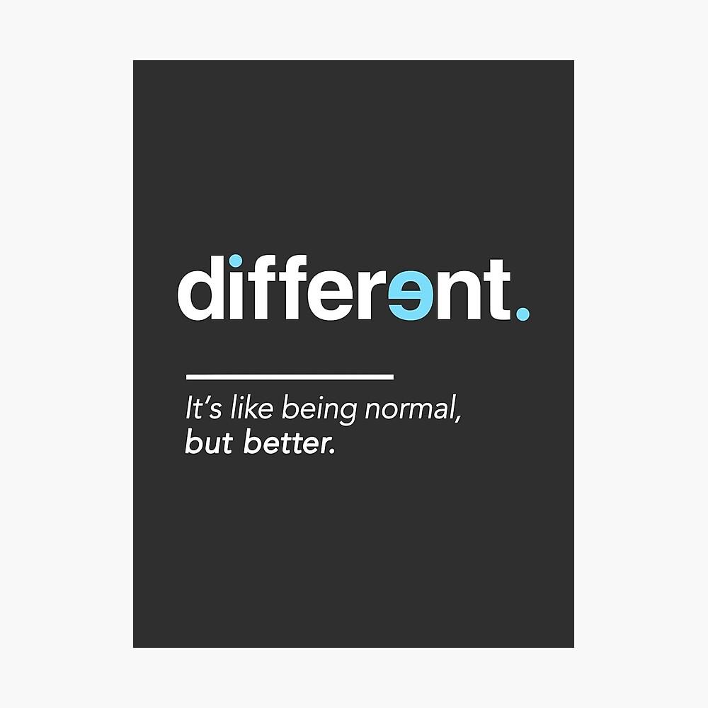 Seien Sie unterschiedliches Hemd für Autismus-Bewusstseins-Monat Fotodruck