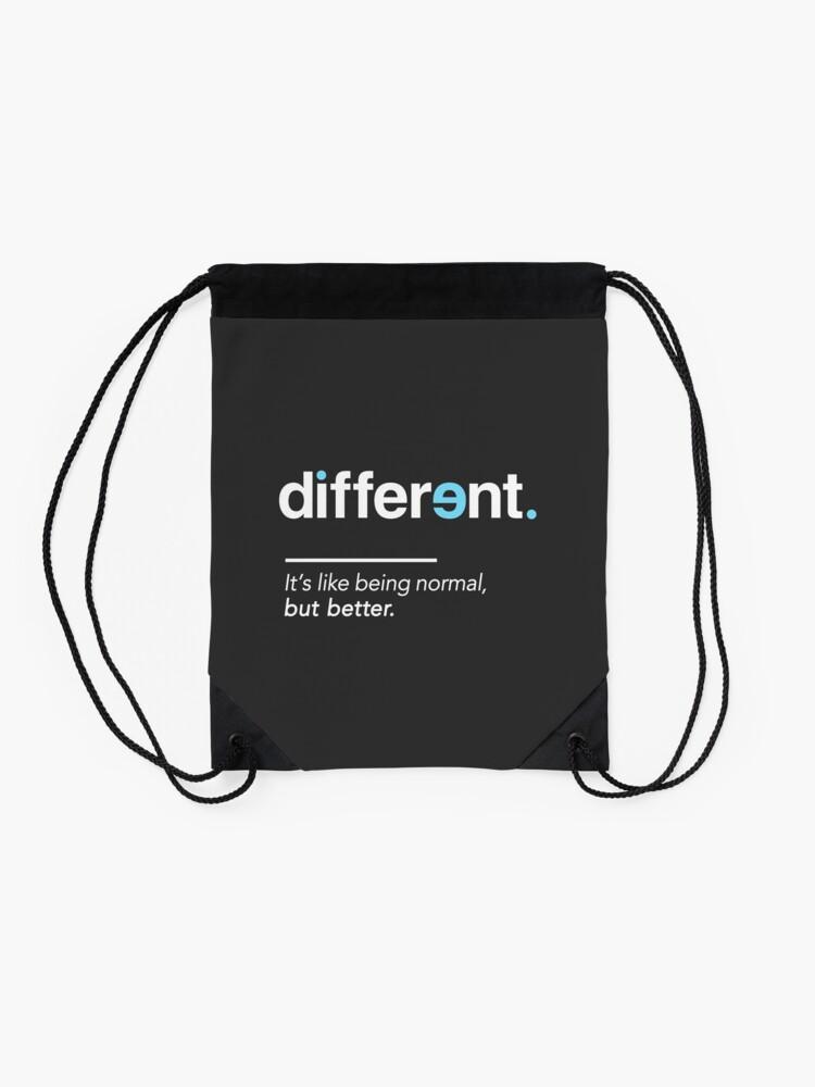 Alternative Ansicht von Seien Sie unterschiedliches Hemd für Autismus-Bewusstseins-Monat Turnbeutel