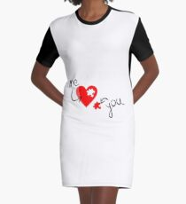 Heart - Missing part of my heart Graphic T-Shirt Dress