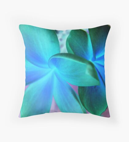 Twin Bloom-(Inverted) Throw Pillow