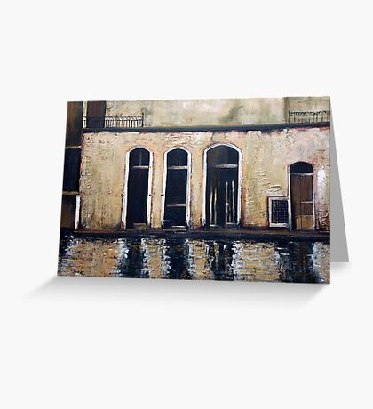 Venice - reflections Greeting Card
