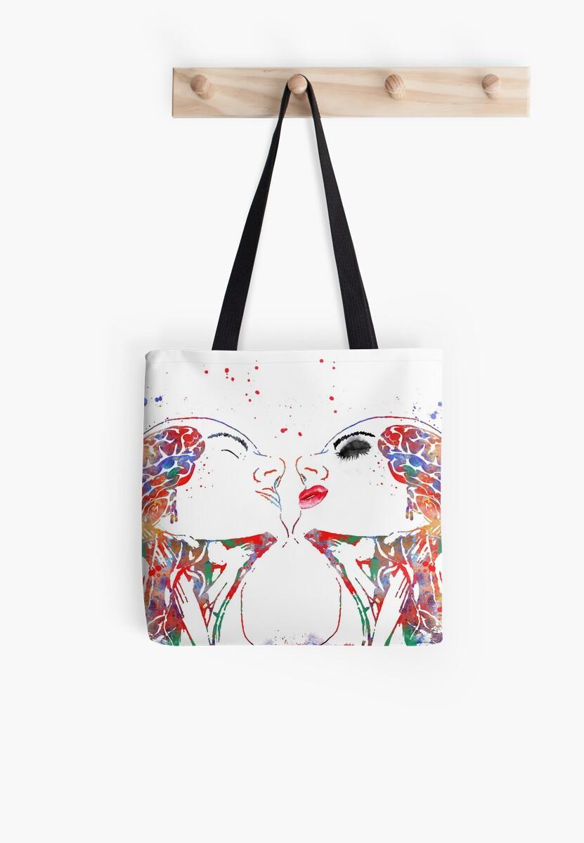 Bolsas de tela «Arte del amor, mujer y hombre, anatomía de la cara ...