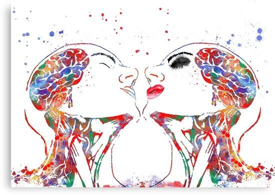 Lienzos «Arte del amor, mujer y hombre, anatomía de la cara ...