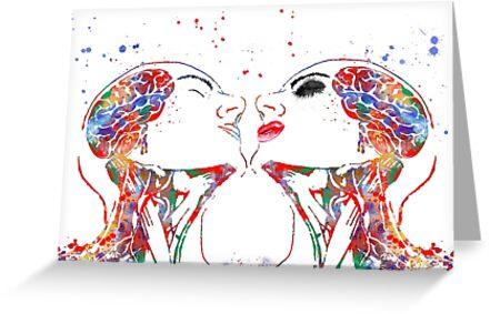 Tarjetas de felicitación «Arte del amor, mujer y hombre, anatomía de ...