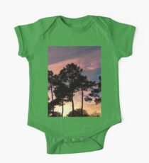 Sunset - Clouds, wind and trees One Piece - Short Sleeve