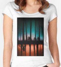 Fremde Dinge Tailliertes Rundhals-Shirt
