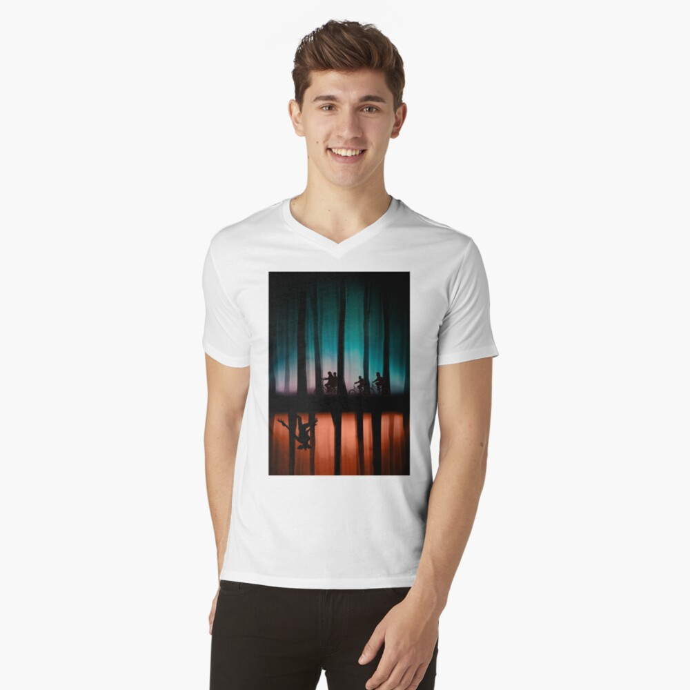 Stranger Things V-Neck T-Shirt
