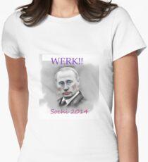 WERK!! Sochi 2014 Womens Fitted T-Shirt