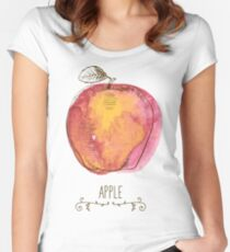 fresh useful eco-friendly apple Women's Fitted Scoop T-Shirt