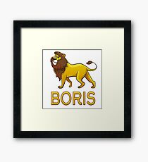 Boris Lion Drawstring Bags Framed Print